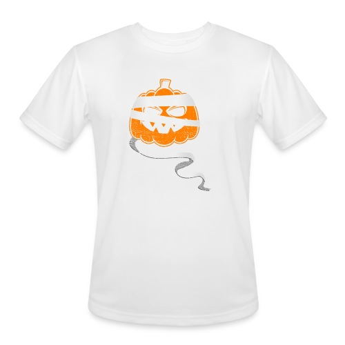 Halloween Bandaged Pumpkin - Men's Moisture Wicking Performance T-Shirt