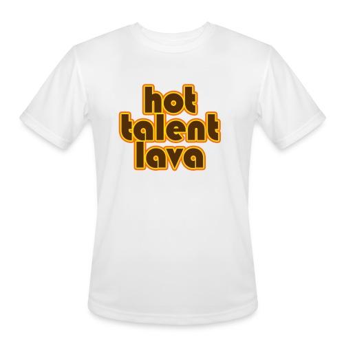 Hot Talent Lava - Brown Letters - Men's Moisture Wicking Performance T-Shirt