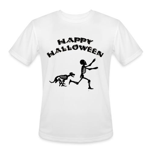 Halloween Boy and Dog - Men's Moisture Wicking Performance T-Shirt