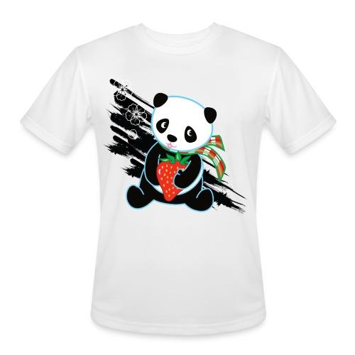 Cute Kawaii Panda T-shirt by Banzai Chicks - Men's Moisture Wicking Performance T-Shirt