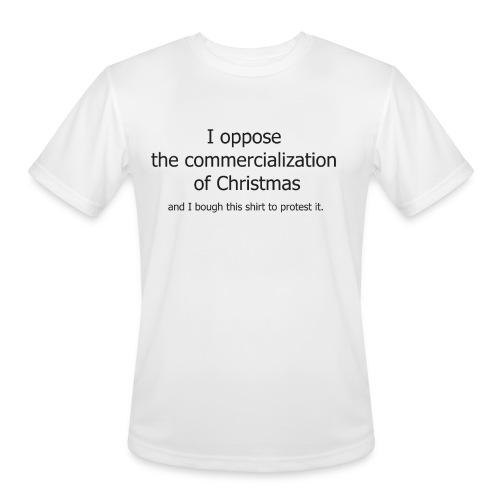 Christmas Commercialization Ladies T - Men's Moisture Wicking Performance T-Shirt