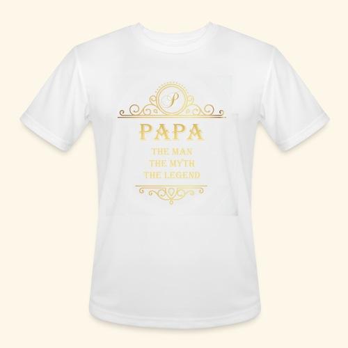 Papa the man the myth the legend - 2 - Men's Moisture Wicking Performance T-Shirt