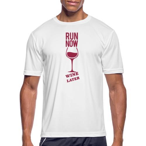 Run Now Gym Motivation - Men's Moisture Wicking Performance T-Shirt