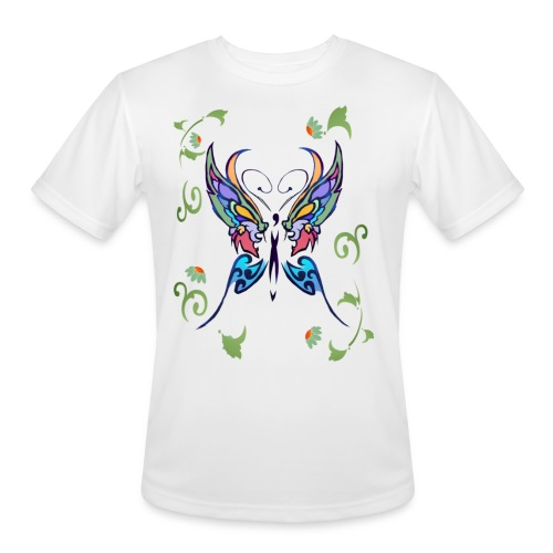 Bright Butterfly - Men's Moisture Wicking Performance T-Shirt