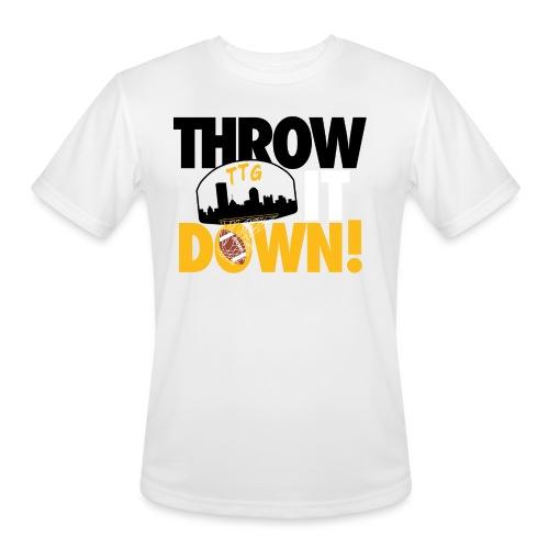 Throw it Down! (Turnover Dunk) - Men's Moisture Wicking Performance T-Shirt