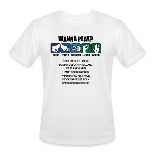 rock paper scissors lizard spock shirt - Men's Moisture Wicking Performance T-Shirt