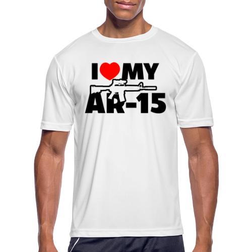I LOVE MY AR-15 - Men's Moisture Wicking Performance T-Shirt