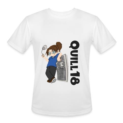 Quill18 Old School Logo - Men's Moisture Wicking Performance T-Shirt