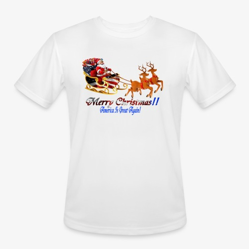Merry Christmas-America - Men's Moisture Wicking Performance T-Shirt