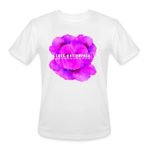 lets_get_purple_2 - Men's Moisture Wicking Performance T-Shirt