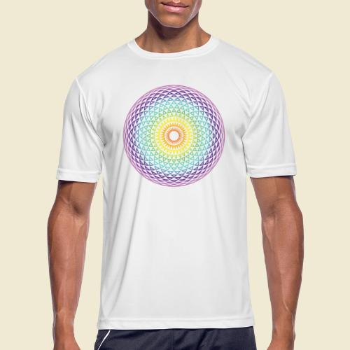 Torus Yantra Hypnotic Eye rainbow - Men's Moisture Wicking Performance T-Shirt