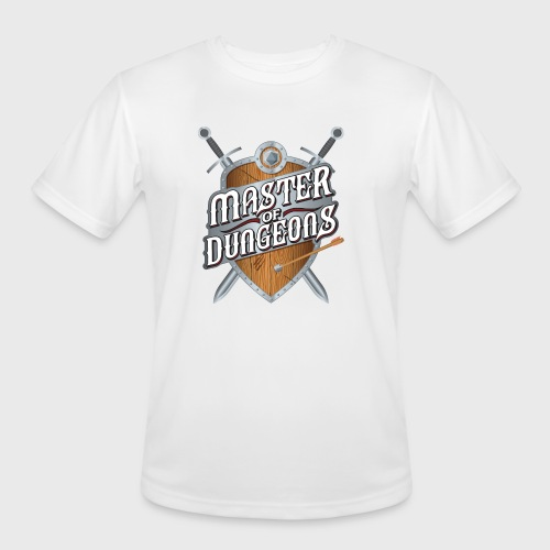 master of dungeons shield and swords fantasy gift - Men's Moisture Wicking Performance T-Shirt
