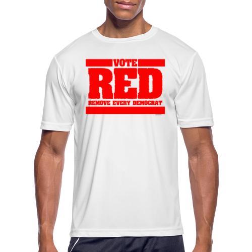 Remove every Democrat - Men's Moisture Wicking Performance T-Shirt