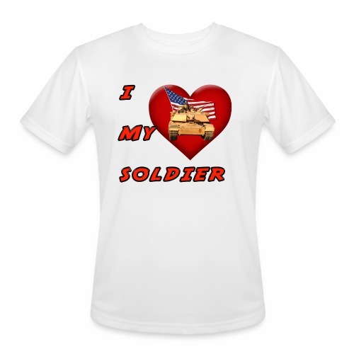 I Heart my Soldier - Men's Moisture Wicking Performance T-Shirt