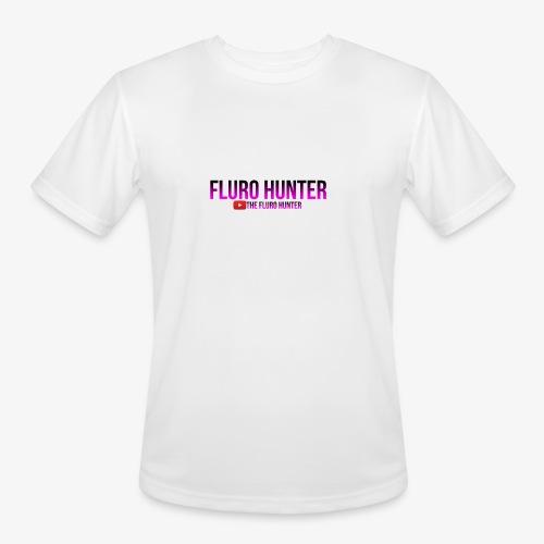 The Fluro Hunter Black And Purple Gradient - Men's Moisture Wicking Performance T-Shirt