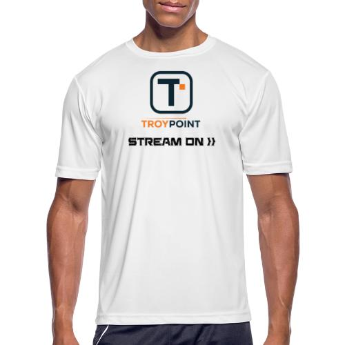 TROYPOINT Stream On Navy Logo - Men's Moisture Wicking Performance T-Shirt