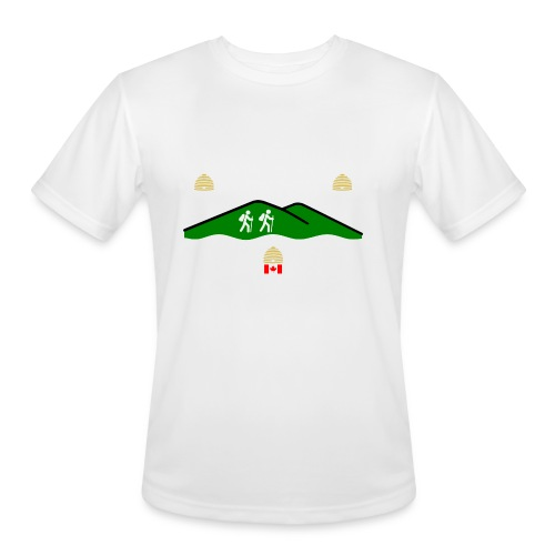 Brockville Hiking Club Flag - Men's Moisture Wicking Performance T-Shirt