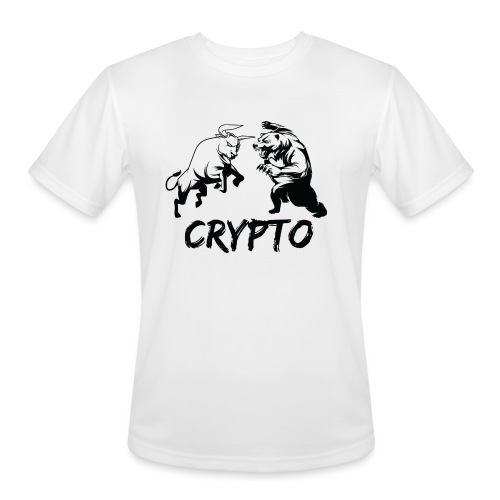 CryptoBattle Black - Men's Moisture Wicking Performance T-Shirt