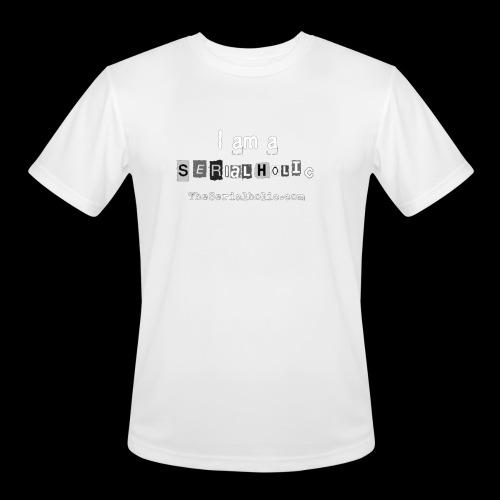 White Serialholic Logo - Men's Moisture Wicking Performance T-Shirt