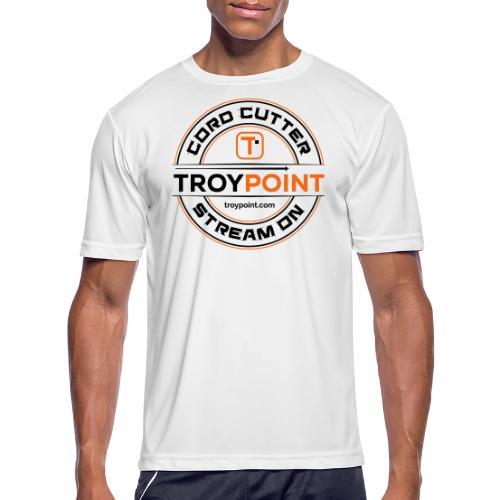 TROYPOINT Cord Cutter - Navy Logo - Men's Moisture Wicking Performance T-Shirt