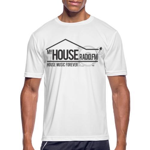 My House Radio Black Logo - Men's Moisture Wicking Performance T-Shirt