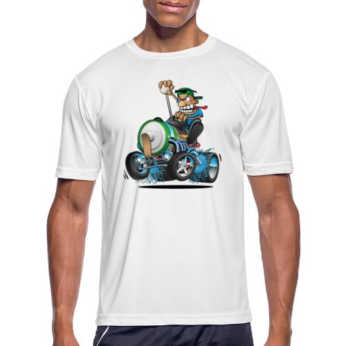 Hot Rod Electric Car Cartoon - Men's Moisture Wicking Performance T-Shirt