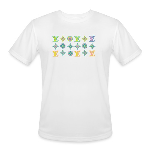custom coloured LV pattern. - Men's Moisture Wicking Performance T-Shirt