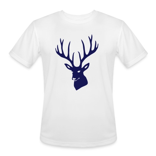 stag night deer buck antler hart cervine elk - Men's Moisture Wicking Performance T-Shirt