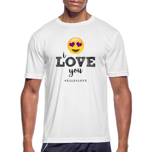 I LOVE you - Men's Moisture Wicking Performance T-Shirt
