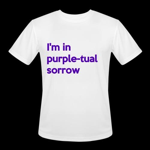 Purple-tual sorrow - Men's Moisture Wicking Performance T-Shirt