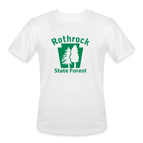 Rothrock State Forest Keystone (w/trees) - Men's Moisture Wicking Performance T-Shirt