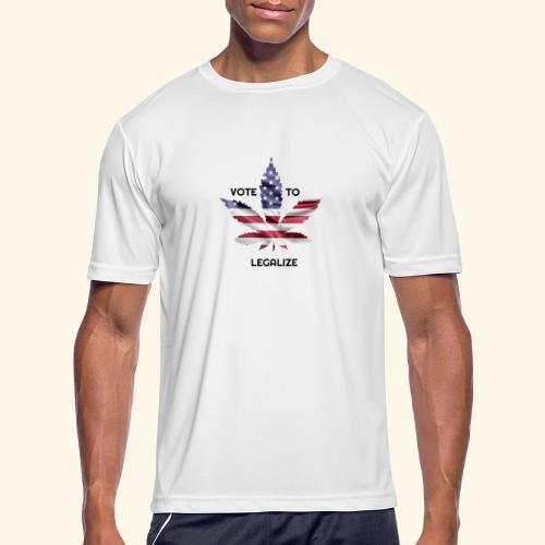 VOTE TO LEGALIZE - AMERICAN CANNABISLEAF SUPPORT - Men's Moisture Wicking Performance T-Shirt