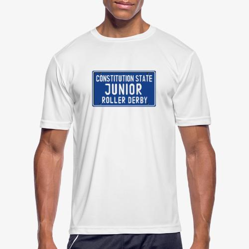 Constitution State Junior Roller Derby - Men's Moisture Wicking Performance T-Shirt