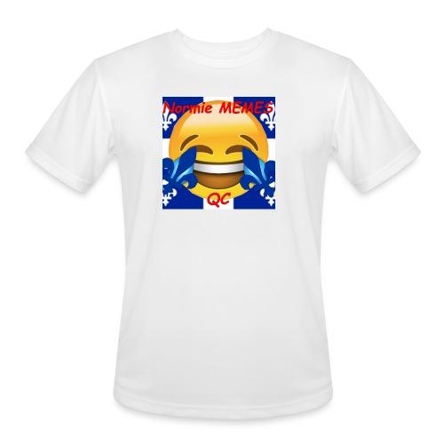 T-Shirt Normie Memes QC BLEU ROI - Men's Moisture Wicking Performance T-Shirt