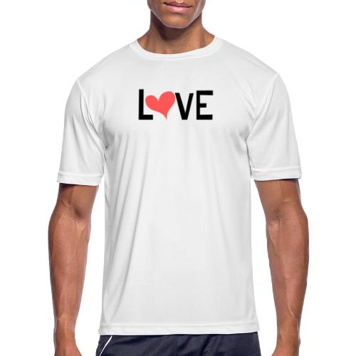 LOVE heart - Men's Moisture Wicking Performance T-Shirt