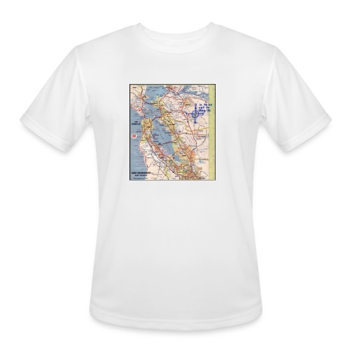 Phillips 66 Zodiac Killer Map June 26 - Men's Moisture Wicking Performance T-Shirt