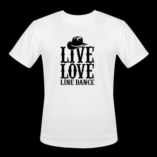 Live Love Line Dancing - Men's Moisture Wicking Performance T-Shirt