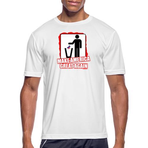 MAGA TRASH DEMS - Men's Moisture Wicking Performance T-Shirt