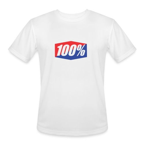 100% Logo Design - Men's Moisture Wicking Performance T-Shirt