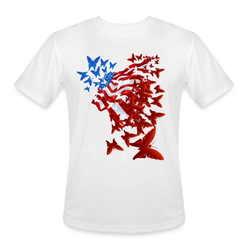 The Butterfly Flag - Men's Moisture Wicking Performance T-Shirt
