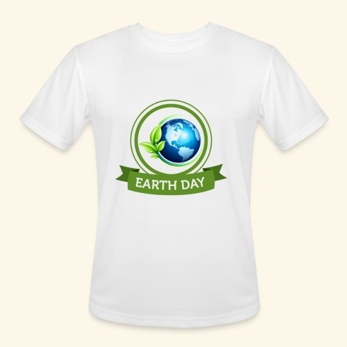 Happy Earth day - 3 - Men's Moisture Wicking Performance T-Shirt
