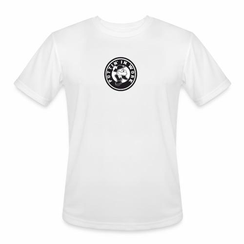 Solid Puttin' In Work Logo - Men's Moisture Wicking Performance T-Shirt