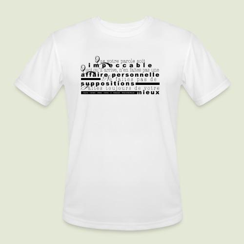 4 Accords Toltèques - Men's Moisture Wicking Performance T-Shirt