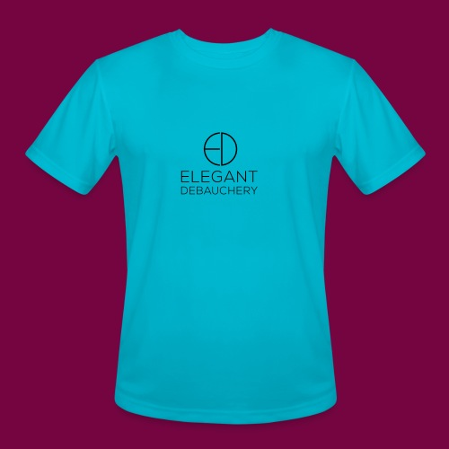 Elegant Debauchery Logo Stacked - Men's Moisture Wicking Performance T-Shirt