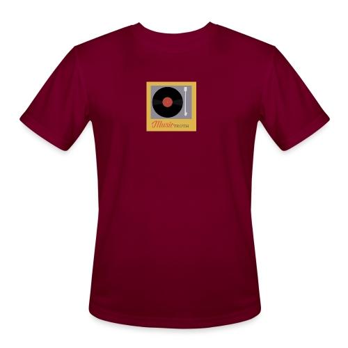 Music Truth Retro Record Label - Men's Moisture Wicking Performance T-Shirt