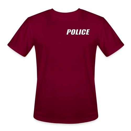 Police White - Men's Moisture Wicking Performance T-Shirt