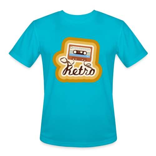 Retro-Cassette - Men's Moisture Wicking Performance T-Shirt