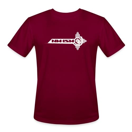 White NM-ISM Logo - Men's Moisture Wicking Performance T-Shirt