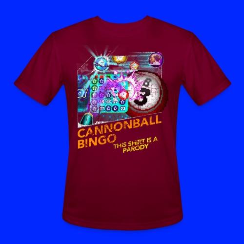 Vintage Cannonball Bingo Box Art Tee - Men's Moisture Wicking Performance T-Shirt