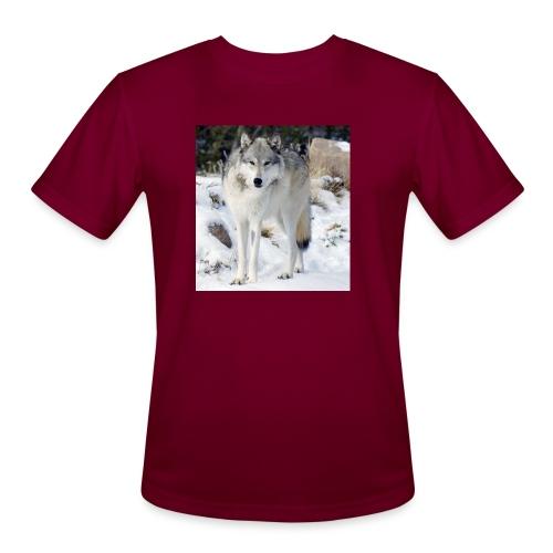 Canis lupus occidentalis - Men's Moisture Wicking Performance T-Shirt